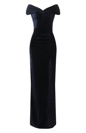 Женское платье из вискозы ALESSANDRA RICH темно-синего цвета, арт. FAB2492-F3162 | Фото 1