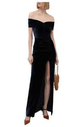 Женское платье из вискозы ALESSANDRA RICH темно-синего цвета, арт. FAB2492-F3162 | Фото 2