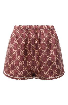Женские шелковые шорты GUCCI светло-коричневого цвета, арт. 644589/XJCL5 | Фото 1