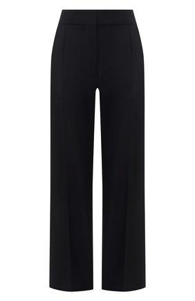 Женские брюки BURBERRY темно-синего цвета, арт. 8039034 | Фото 1