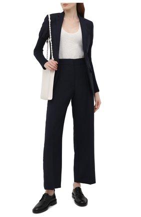 Женские брюки BURBERRY темно-синего цвета, арт. 8039034 | Фото 2