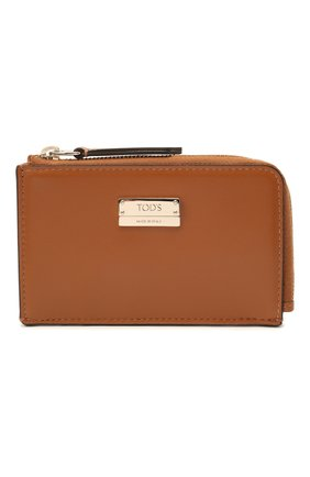 Женская кожаный футляр для ключей TOD'S коричневого цвета, арт. XAWENBFA300PXP   Фото 1