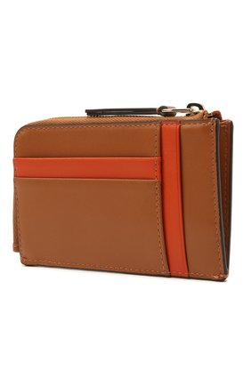 Женская кожаный футляр для ключей TOD'S коричневого цвета, арт. XAWENBFA300PXP   Фото 2