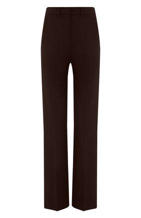 Женские брюки VALENTINO темно-коричневого цвета, арт. VB0RB4C06DP | Фото 1