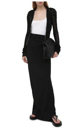 Женская юбка RICK OWENS черного цвета, арт. RP21S3333/CC | Фото 2
