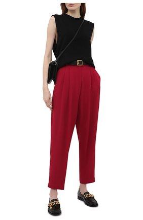 Женские брюки из вискозы DOLCE & GABBANA розового цвета, арт. FTB10T/FURDV | Фото 2