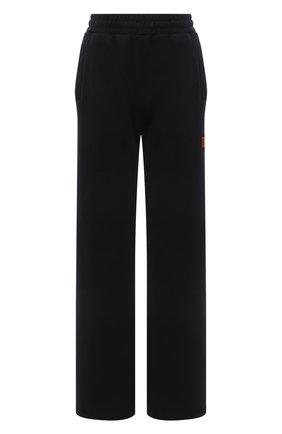 Женские хлопковые брюки HERON PRESTON черного цвета, арт. HWCA019R21JER0011000 | Фото 1