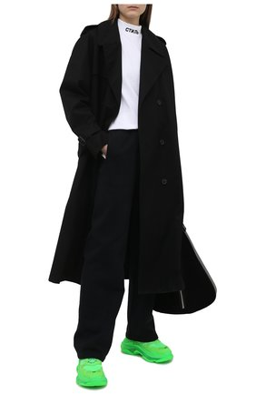 Женские хлопковые брюки HERON PRESTON черного цвета, арт. HWCA019R21JER0011000 | Фото 2