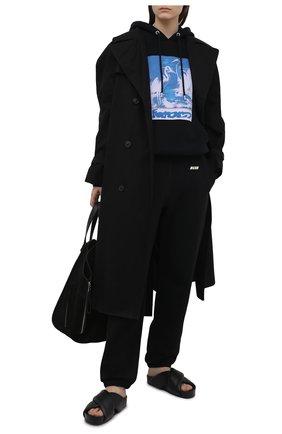 Женский хлопковое худи HERON PRESTON черного цвета, арт. HWBB020R21JER0041040 | Фото 2