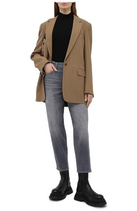 Женские джинсы 7 FOR ALL MANKIND серого цвета, арт. JSA7R880RE   Фото 2