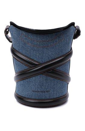 Женская сумка curve small ALEXANDER MCQUEEN синего цвета, арт. 656467/1YB50   Фото 1