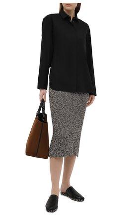 Женская хлопковая рубашка BARBARA BUI черного цвета, арт. X1406GHP | Фото 2