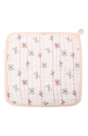 Детского комплект из трех полотенец ADEN+ANAIS розового цвета, арт. EWCC30005DIB | Фото 2 (Материал: Текстиль, Хлопок)