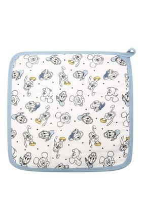 Детского комплект из трех полотенец ADEN+ANAIS синего цвета, арт. EWCC30006DIB | Фото 2 (Материал: Текстиль, Хлопок)