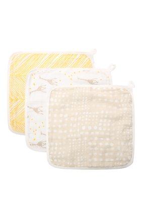 Детского комплект из трех полотенец ADEN+ANAIS желтого цвета, арт. EWCC30004B   Фото 1