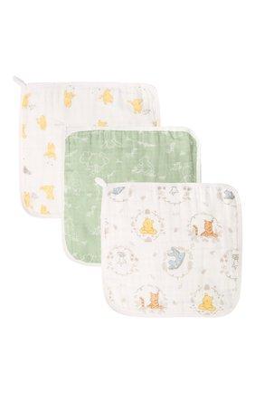 Детского комплект из трех полотенец ADEN+ANAIS желтого цвета, арт. EWCC30008DIB | Фото 1 (Материал: Текстиль, Хлопок)