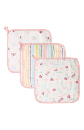 Детского комплект из трех полотенец ADEN+ANAIS розового цвета, арт. EWCC30001B | Фото 1 (Материал: Текстиль, Хлопок)