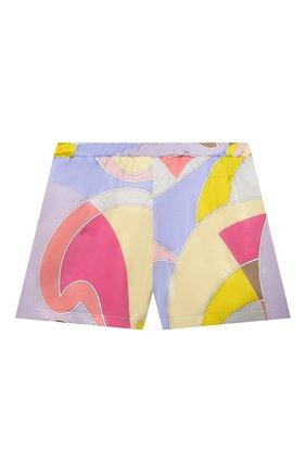Детские хлопковые шорты EMILIO PUCCI разноцветного цвета, арт. 9O6139 | Фото 1