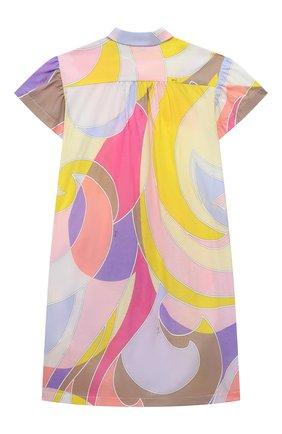 Детское хлопковое платье EMILIO PUCCI разноцветного цвета, арт. 9O1181 | Фото 2