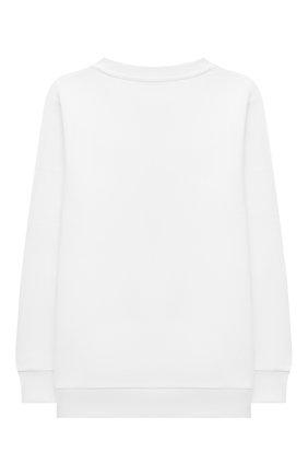 Детский хлопковый свитшот BALMAIN белого цвета, арт. 6M4760 | Фото 2