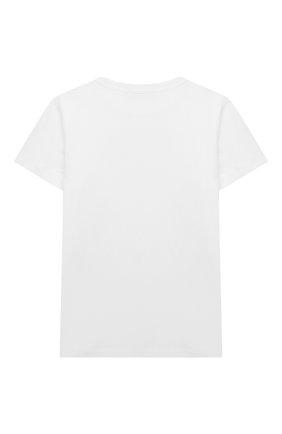 Детская хлопковая футболка BALMAIN белого цвета, арт. 6M8741 | Фото 2
