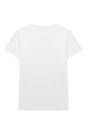 Детская хлопковая футболка BALMAIN белого цвета, арт. 6M8701 | Фото 2