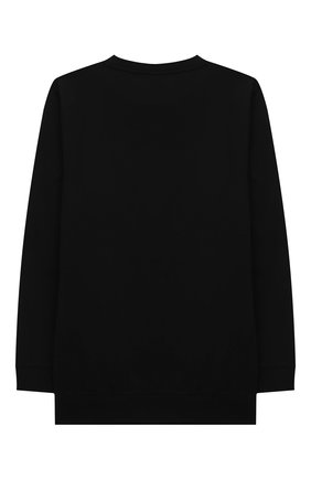 Детская хлопковый лонгслив BALMAIN черного цвета, арт. 6O8530   Фото 2