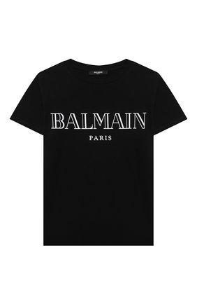 Детская футболка BALMAIN черного цвета, арт. 6M8721 | Фото 1