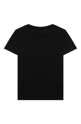 Детская футболка BALMAIN черного цвета, арт. 6M8721 | Фото 2