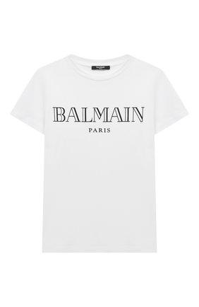 Детская футболка BALMAIN белого цвета, арт. 6M8721 | Фото 1