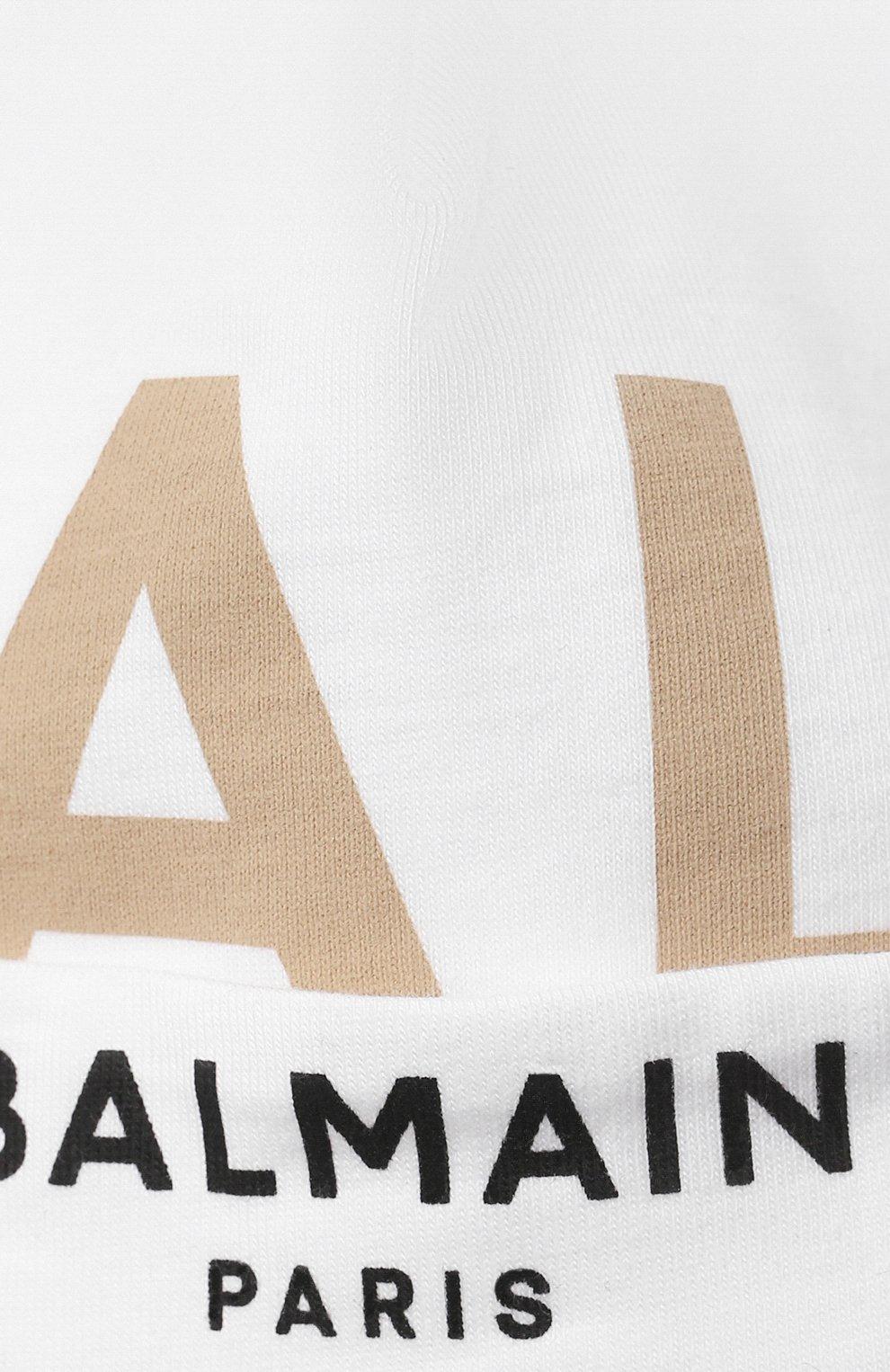 Детское компект из трех предметов BALMAIN белого цвета, арт. 6O8A31 | Фото 9