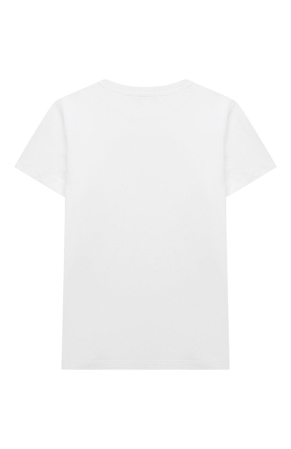 Детский футболка BALMAIN белого цвета, арт. 6M8901 | Фото 2