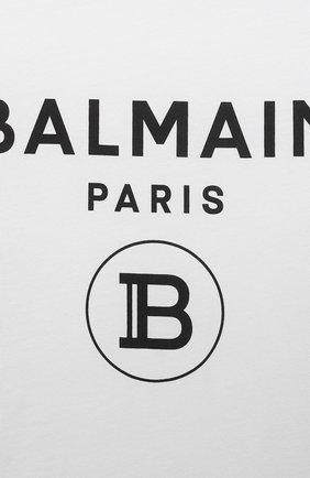 Детский футболка BALMAIN белого цвета, арт. 6M8901 | Фото 3