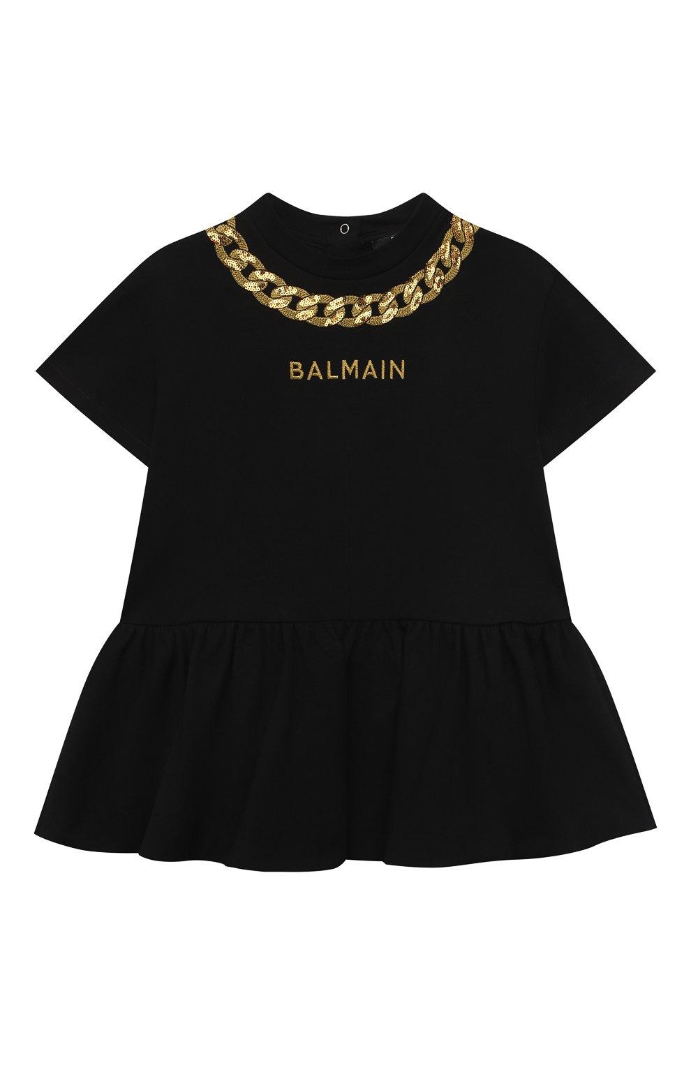 Женский платье BALMAIN черного цвета, арт. 6O1881 | Фото 1