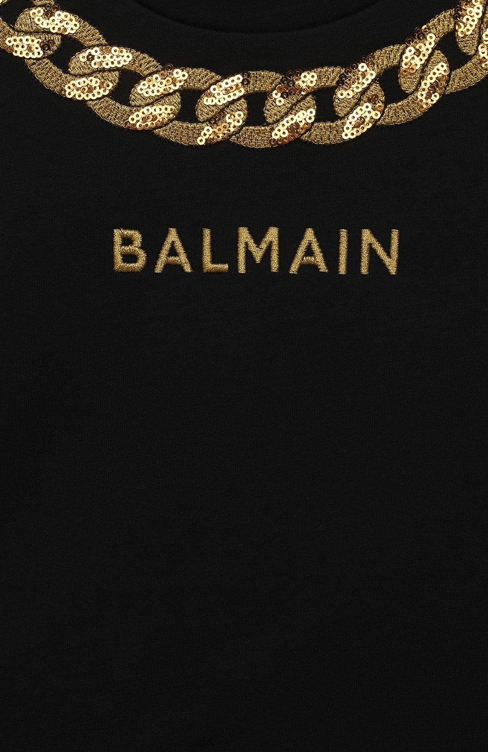 Женский платье BALMAIN черного цвета, арт. 6O1881 | Фото 3