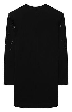 Детское хлопковое платье BALMAIN черного цвета, арт. 6O1070 | Фото 2