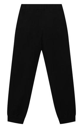 Детские хлопковые брюки BALMAIN черного цвета, арт. 6O6200 | Фото 2