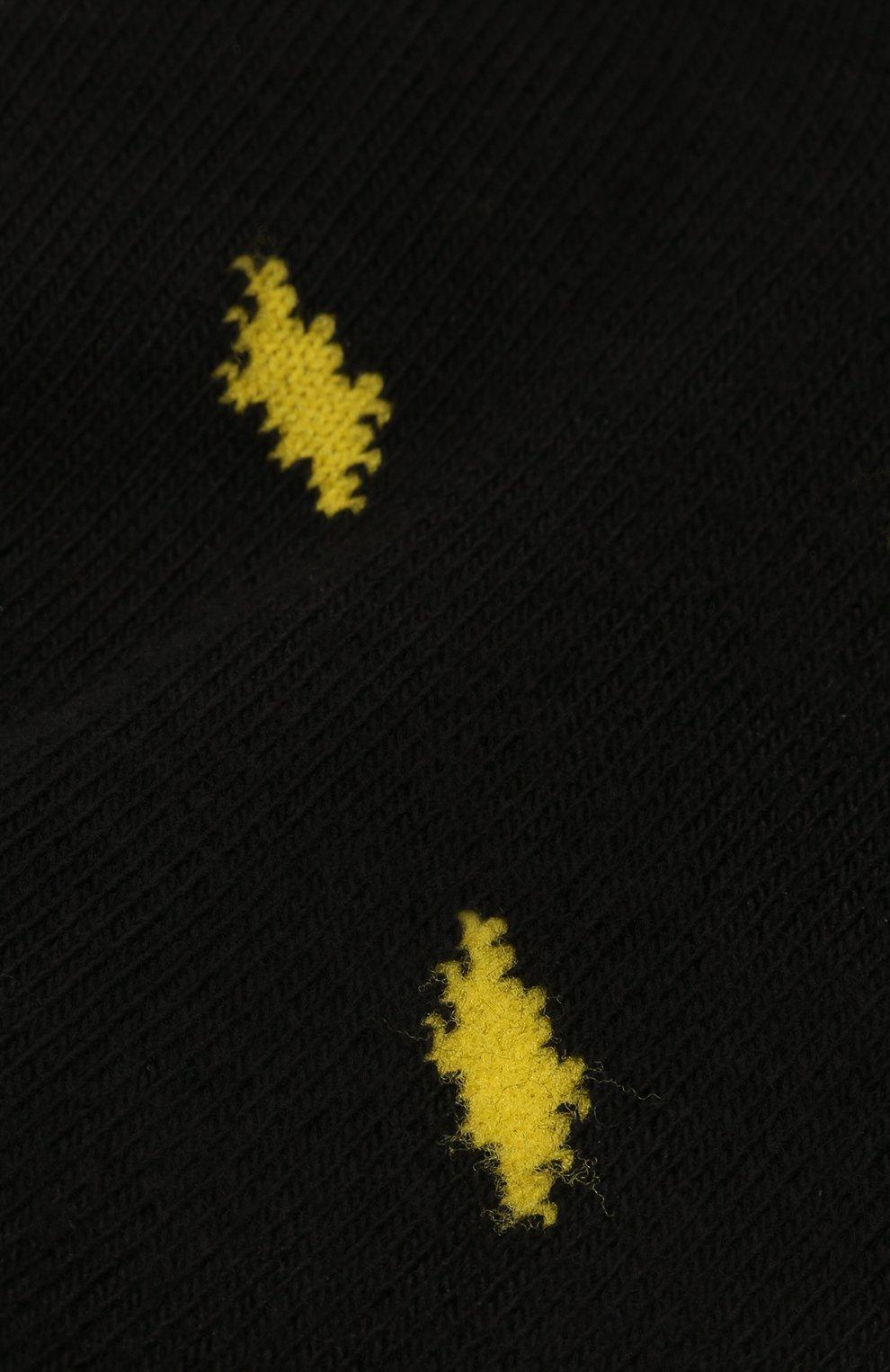 Детские хлопковые носки MARCELO BURLON KIDS OF MILAN черного цвета, арт. 21E/B/MB/6001/7010 | Фото 2 (Материал: Текстиль, Хлопок)