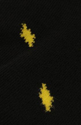 Детские хлопковые носки MARCELO BURLON KIDS OF MILAN черного цвета, арт. 21E/B/MB/6001/7010 | Фото 2
