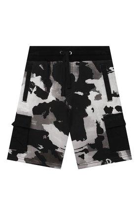 Детские хлопковые шорты DOLCE & GABBANA серого цвета, арт. L4JQH9/HS7E1/2-6   Фото 1