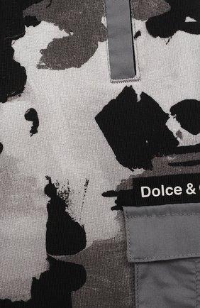 Детские хлопковые джоггеры DOLCE & GABBANA серого цвета, арт. L1JPCI/HS7E1 | Фото 3