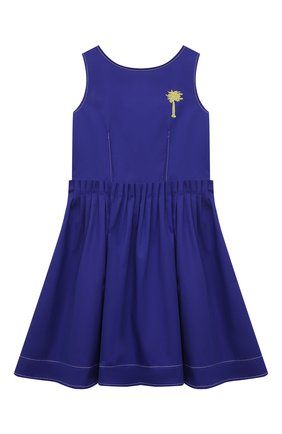 Детское хлопковое платье MARNI синего цвета, арт. M00100-M00H8 | Фото 1