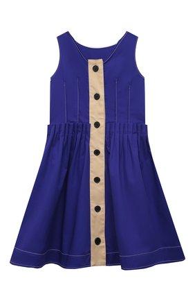 Детское хлопковое платье MARNI синего цвета, арт. M00100-M00H8 | Фото 2