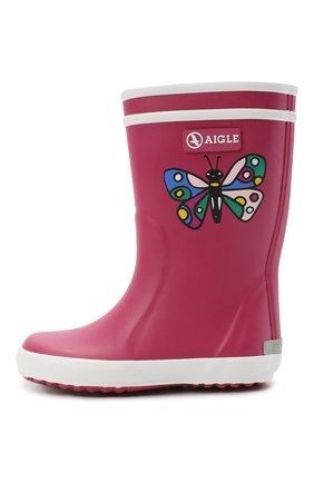 Детские резиновые сапоги AIGLE розового цвета, арт. R11962/L0LLY P0P THEME | Фото 2