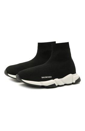 Детские текстильные кроссовки BALENCIAGA черного цвета, арт. 597425/W2DB2   Фото 1