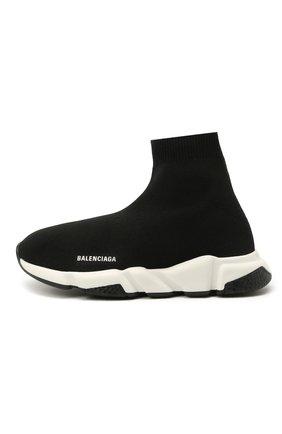 Детские текстильные кроссовки BALENCIAGA черного цвета, арт. 597425/W2DB2   Фото 2