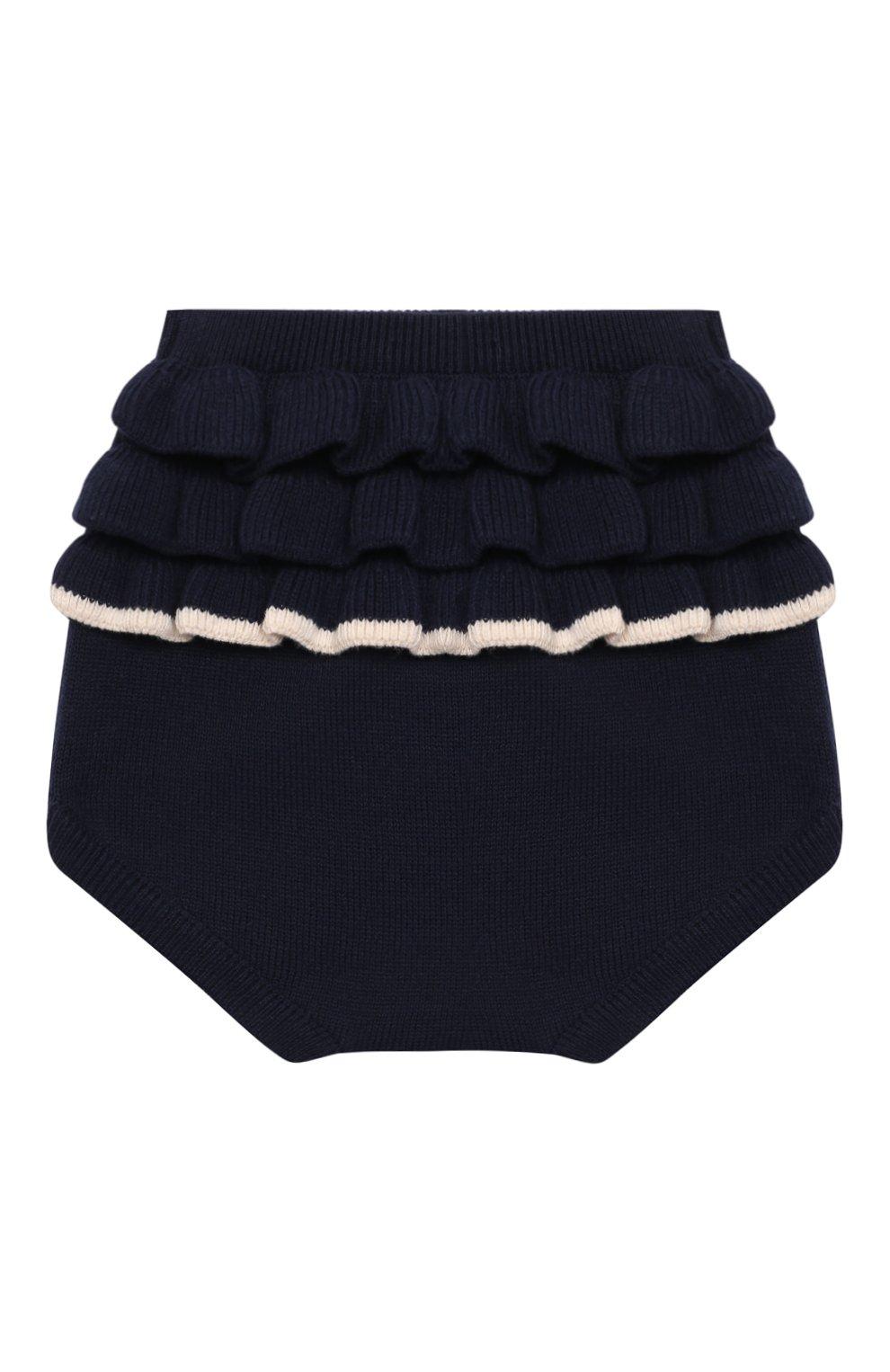 Детские хлопковые шорты LES LUTINS PARIS темно-синего цвета, арт. 21E062/CHL0E   Фото 1