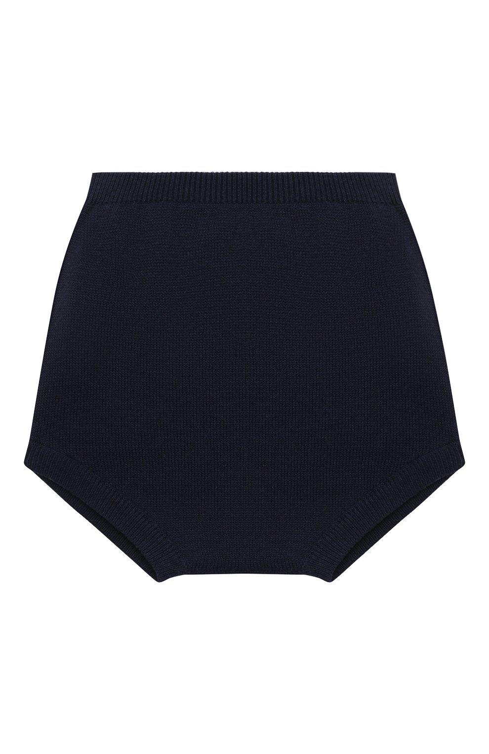 Детские хлопковые шорты LES LUTINS PARIS темно-синего цвета, арт. 21E062/CHL0E   Фото 2