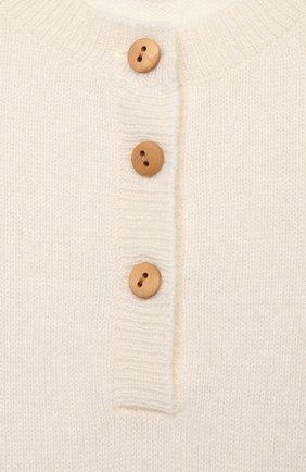 Детский кашемировый комбинезон LES LUTINS PARIS белого цвета, арт. 21E092/B0RIS   Фото 3