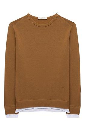 Детский хлопковый пуловер PAOLO PECORA MILANO светло-коричневого цвета, арт. PP2598/14A-16A | Фото 1
